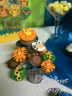 Animals/zafary cup cakes By The Sweet Factory pty