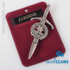 Jardine Clan Crest Kilt Pin. Free worldwide shipping available