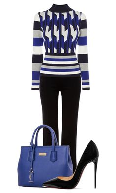 """""""Untitled #20592"""" by nanette-253 ❤ liked on Polyvore featuring Episode, Karen Millen and Christian Louboutin"""