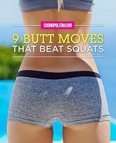 9 Butt Moves that Beat Squats: http://www.cosmopolitan.com/health-fitness/advice/a28978/9-butt-moves-that-beat-squats/?utm_content=buffer5b496&utm_medium=social&utm_source=pinterest.com&utm_campaign=buffer #butt #workouts #exercise #fitness #squats