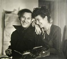Mark Chagall and his daughter Ida, Lotte Jacobi, 1945, gelatin silver print, 10 1/8 in. x 11 3/8 in. Currier Museum of Art.