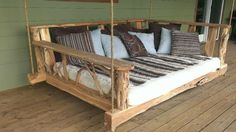 DIY Inspiration - Rustic Porch Swing Bed