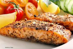 This is a simple delicious recipe that is heart healthy. Serve this salmon with a sweet potato and a veggie you love! Fish Recipes, Snack Recipes, Healthy Recipes, Easy Delicious Recipes, Yummy Food, How To Cook Fish, Mindful Eating, Baked Salmon, Salmon Burgers