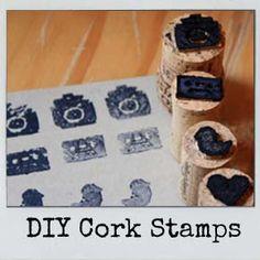 DIY Cork Stamps #camera