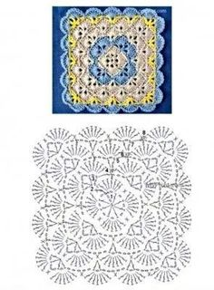 Captivating All About Crochet Ideas. Awe Inspiring All About Crochet Ideas. Crochet Mandala Pattern, Granny Square Crochet Pattern, Crochet Diagram, Crochet Stitches Patterns, Crochet Chart, Knitting Patterns, Crochet Blanket Tutorial, Baby Blanket Crochet, Plaid Crochet