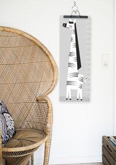 """Bilder - """"Elfriede"""" Zebra Messlatte - ein Designerstück von Doro-Illustrations bei DaWanda"""