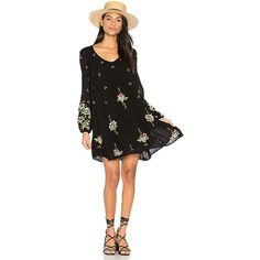 Free People Oxford Embroidered Mini Dress ($130) ❤ liked on Polyvore featuring dresses, embroidery dresses, short sleeve dress, embroidered mini dress, free people dresses and broderie dress