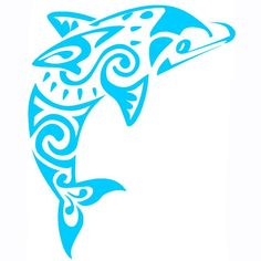 Tribal Dolphin Vinyl Decal
