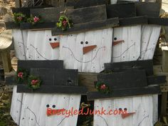 Easy DIY Christmas Snowman. Use scrap bits and make this for free!!!!!!!!!!!!