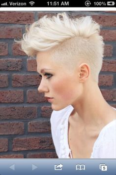 I love these punk rocker, short hair styles on these gorgeous women!