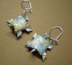 La Clé: Pendientes de origami de Véronique Wardega