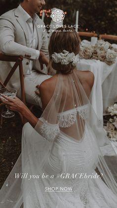 Wedding Goals, Chic Wedding, Wedding Styles, Lace Wedding, Wedding Veil, Dream Wedding Dresses, Bridal Dresses, Flower Girl Dresses, Bridal Elegance
