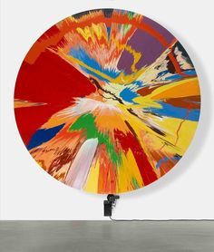 Damien Hirst, spin paint. on ArtStack #damien-hirst #art