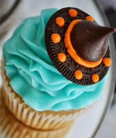 Three simple ingredients—Oreos, Hershey Kisses, and frosting—come together to create one of Halloween's most popular symbols. In a time crunch, vanilla or chocolate frosting work just as well as one that's dyed orange.