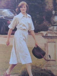 Lady Diana Spencer visits her brother Charles at Maidwell preparatory school, where he was a boarder.