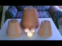 """Candle Powered Space Heater – DIY Air Heater 190F – """"Table Top"""" Size (video)"""