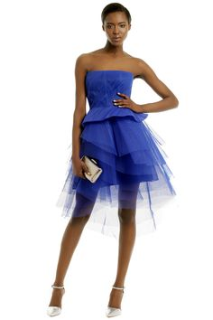Sharpen the Edge Dress by Monique Lhuillier at $325   Rent The Runway