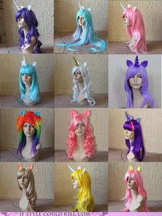 My little pony wigs!