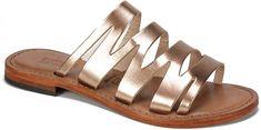 Summit By White Mountain Eden Cut-Out Leather Slides Mens Fashion Shoes, Fashion Flats, Women's Fashion, Kids Sandals, Shoes Sandals, Women Sandals, Flat Shoes, Huarache, Summer Shoes