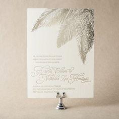 Traditional Palm Wedding Invitation Design