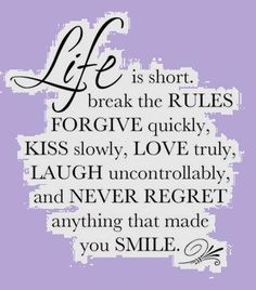 Kiss slowly, love truly ~ smile