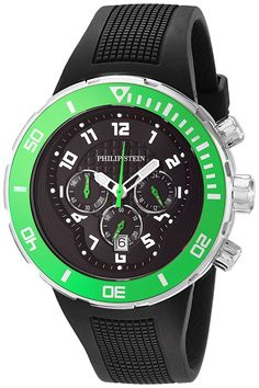 Philip Stein Men's 33-XGRN-RB Active Extreme Analog Display Japanese Quartz Black Watch * Continue to the watch at the image link.