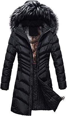 Buy Custom Ruiming Royalty Winter Slimming Coat Women I Thick Warm Jacket Parka w/Removable Fur Hoodie online - Fortrendytoprated Winter Coats Women, Coats For Women, Winter Jackets, Sun Dress Casual, Faux Fur Hoodie, Hoodie Outfit, Mantel, Parka, Winter Outfits