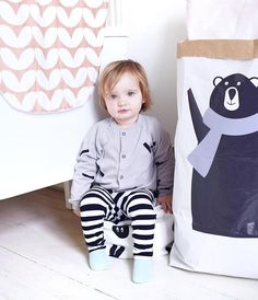 Bear Paperbag Storage for Toys Personalized Craft Paper Bag