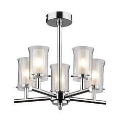 Dar Lighting Elba 5 Light Mini Chandelier