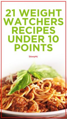 Add these 21 Weight Watchers Recipes Under 10 Points to your clean eating meal plan! #ww #cleaneating #goals
