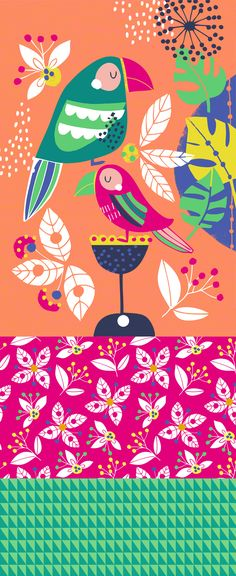 wendy kendall designs – freelance surface pattern designer » pretty parrots