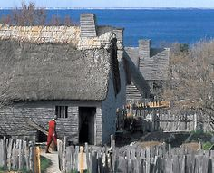Plimoth Plantation English Village Plymouth, MA loved goign there :) Plymouth Colony, Plymouth Rock, Great Places, Places To Visit, English Village, Colonial America, Medieval Town, Vacation Spots