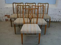 Set of Six Swedish Modernist Dining Chairs | From a unique collection of antique and modern dining room chairs at http://www.1stdibs.com/furniture/seating/dining-room-chairs/