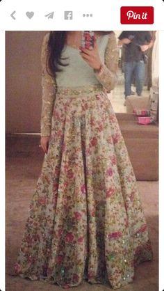 A beautiful flower print Indian dress #floral #indiandress