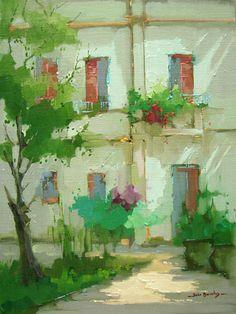 Casario nos Jardins do Palácio do Catete