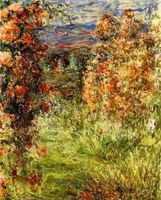 The House among the Roses 2, 1925 by Claude Monet. Impressionism. landscape