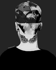 #bieber#tatoo#patience#jb#whatdoyoumean instagram @mr___aswin Justin Bieber, Patience, Tatoos, Batman, Superhero, Fictional Characters, Instagram, Art, Craft Art