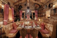 Inns Holz in #Austria #festivedinner Discover this holiday village at http://impressivemagazine.com/2013/12/11/winter-holiday-village-bohemian-forest-austria/