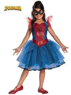 Girl's Spider Girl Tutu Costume! See more #costume ideas for Halloween and more at CostumeSuperCenter.com