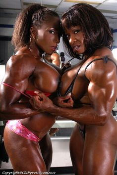 Black women with muscles naked