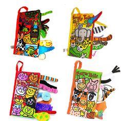 4 패턴 동물 스타일의 아기 toys 뜨거운 새로운 유아 아이 조기 개발 헝겊 책 학습 교육 전개 활동 책