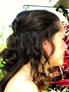 Prom Homecoming 8th Grade dance hair half up do JulianaGraceBlogSpace