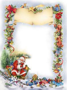 Marcos para fotograf as navide os verticales en png - Tarjetas con motivos navidenos ...