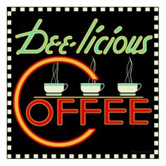 Dee-licious Coffee Giclee Print by Kate Ward Thacker at AllPosters.com