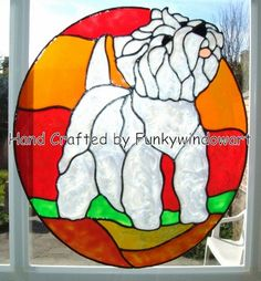 westie stained glass pattern - Google Search