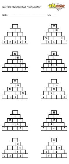 Maths Pyramids for Mental Maths Practice | Pinterest | Mental maths ...