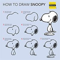 """Lots of fun home activities for Peanuts lovers, including simple cartooning """"how to's"""" for drawing Snoopy and Charlie Brown. Digital Portrait, Portrait Art, Cartoon Art Museum, Snoopy Museum, Snoopy Drawing, Good Morning Snoopy, Peanuts By Schulz, Mo Willems, Charlie Brown And Snoopy"""