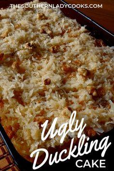Dump Cake Recipes, New Recipes, Cooking Recipes, Favorite Recipes, Dump Cakes, Dessert Recipes, Ugly Duckling Cake Recipe, Just Desserts, Breads