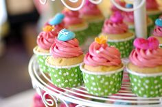 Tea Party Ideas For Kids - Tiered Cupcakes