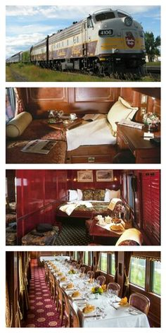 Luxury Train Travel: Royal Canadian Pacific. Travel in style! :)